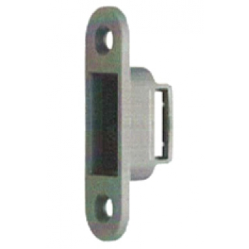 Ответная планка 0092 (с вставкой из пластика), сталь с порошковой окраской серого цвета