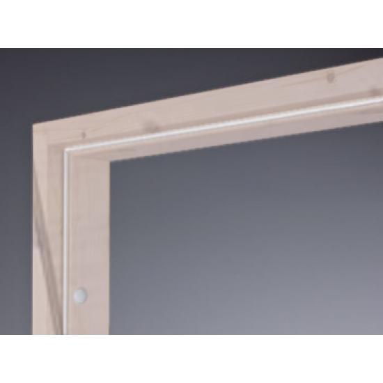 Коробка белый лак с уплотнителем, рег. петлями для двойных дверей