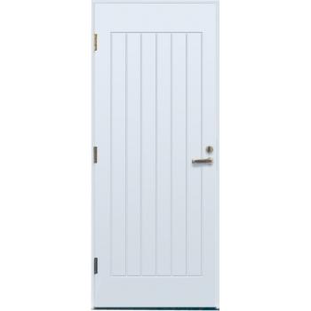 Дверь входная EDUX Lahti Eikka белая с замком LC100  М10х21 белая правая, глухая, замок LC100