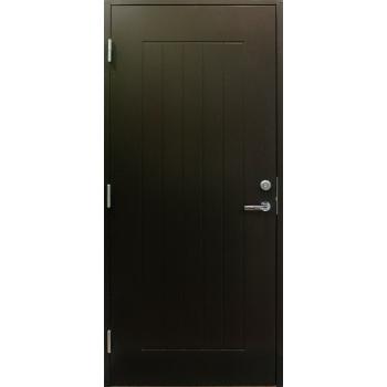 Дверь входная EDUX Lahti Eikka коричневая с замком LC100