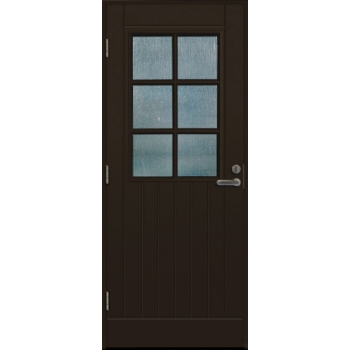 Дверь входная EDUX Lahti Erkki коричневая с замком LC100
