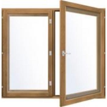 Деревоалюминиевое окно LAMMIN Watti WNE-A