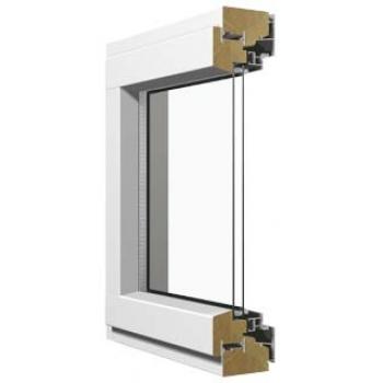 Деревоалюминиевое однорамное однокамерное поворотно-откидное окно Skaala