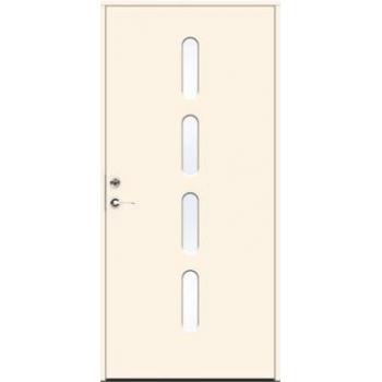 Входная дверь JELD-Wen Character Beat с безрамочным стеклопакетом и скрытыми петлями