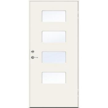 Входная дверь JELD-Wen Character Brick с безрамочным стеклопакетом и скрытыми петлями