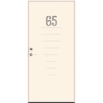 Входная дверь JELD-Wen Character Digits с безрамочным стеклопакетом и скрытыми петлями