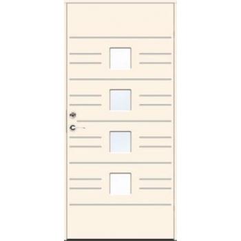 Входная дверь JELD-Wen Character Leon с безрамочным стеклопакетом и скрытыми петлями