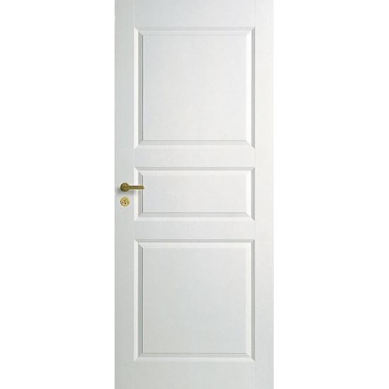 Дверь межкомнатная белая трехфиленчатая глухая N1