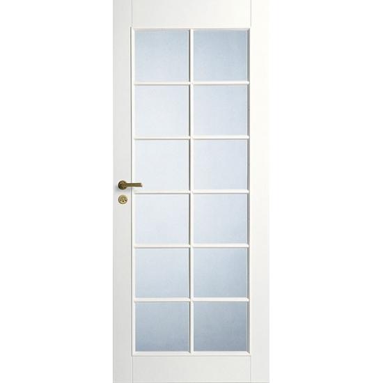 Дверь межкомнатная белая под 12 стекол N20