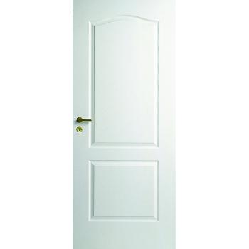 Дверь межкомнатная белая с арочной филенкой глухая N21