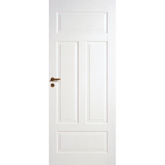 Дверь межкомнатная белая 4-хфиленчатая N41