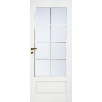 Дверь межкомнатная белая 4-хфиленчатая под 8 стекол N42
