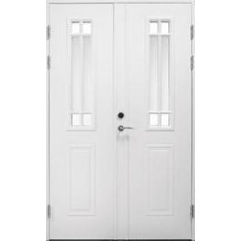 Входная дверь Jeld-Wen Classic C1881 W91 с декоративным стеклом, рисунок с обеих сторон, двухстворчатая