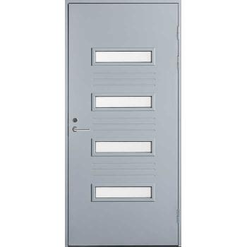 Входная дверь Jeld-Wen Function F2054 W53 с матовым стеклом с фрезерованной внешней стороной