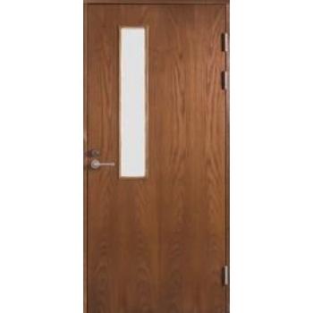 Входная дверь Jeld-Wen Function F2090 W22 шпон ясеня с матовым стеклом, гладкая с обеих сторон