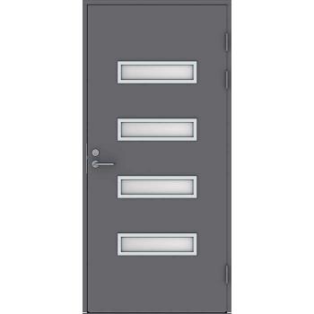 Входная дверь Jeld-Wen Function F2090 W53 с матовым стеклом, гладкая с обеих сторон