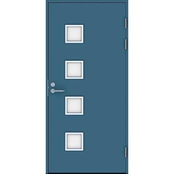 Входная дверь Jeld-Wen Function F2090 W82 с матовым стеклом, гладкая с обеих сторон