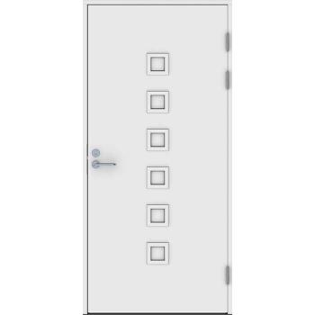 Входная дверь Jeld-Wen Function F2090 W86 с матовым стеклом, гладкая с обеих сторон
