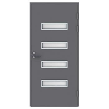 Входная дверь Jeld-Wen Function F2090 W53 шпон ясеня матовым стеклом, гладкая с обеих сторон