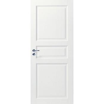 Дверь белая массивная 3-х филенчатая глухая N101