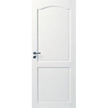 Дверь белая массивная с арочной филенкой N110