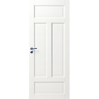 Дверь белая массивная 4-х филенчатая N124