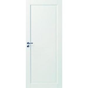 Белая массивная дверь под 1 филенку N127
