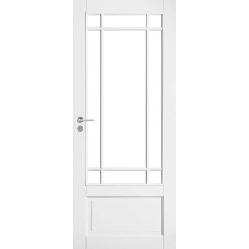 Дверь белая массивная под 9 стекол N130