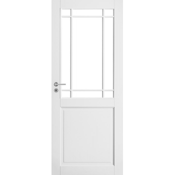 Дверь белая массивная под 9 стекол N131