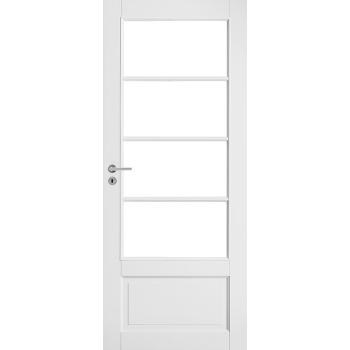 Дверь белая массивная под 4 стекла N133