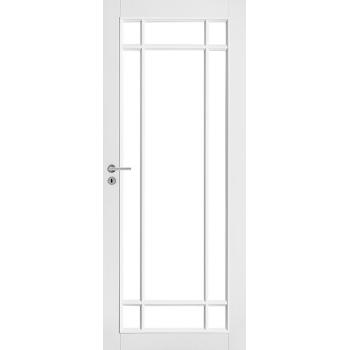 Дверь белая массивная под 9 стекол N134