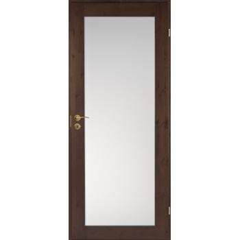 Дверь сосновая Unique Rustic 332S тонированная с матовым стеклом