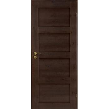 Дверь сосновая Unique Rustic 337 тонированная глухая