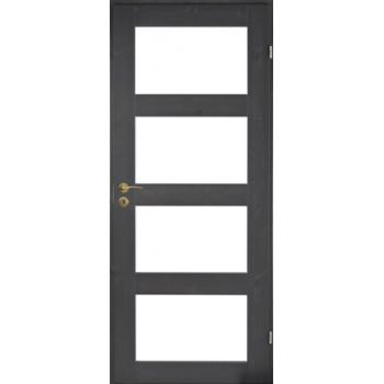 Дверь сосновая Unique Rustic 348K тонированная с 4 прозрачными стеклами JELD-WEN