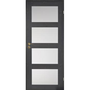 Дверь сосновая Unique Rustic 348S тонированная с 4 матовыми стеклами JELD-WEN