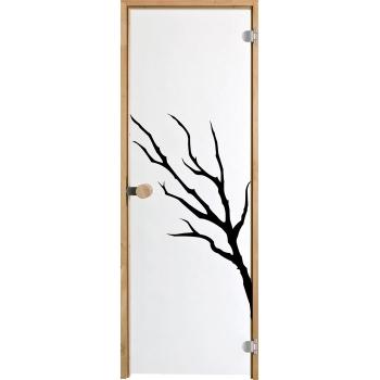 Дверь для сауны с круглой ручкой Purity Oksa