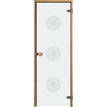 Дверь для сауны с круглой ручкой Purity Ornament