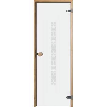 Дверь для сауны с круглой ручкой Purity Square