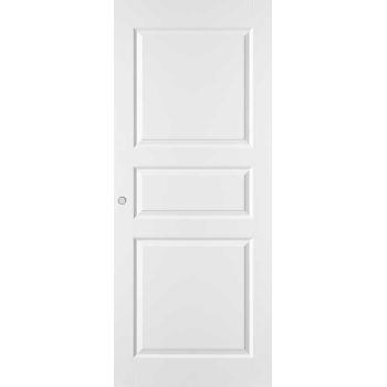 Дверь межкомнатная белая трехфиленчатая глухая откатная КОМПЛЕКТ для монтажа на стену