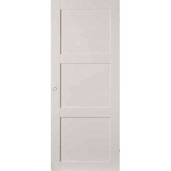 Дверь белая филенчатая глухая Unique откатная КОМПЛЕКТ для монтажа на стену