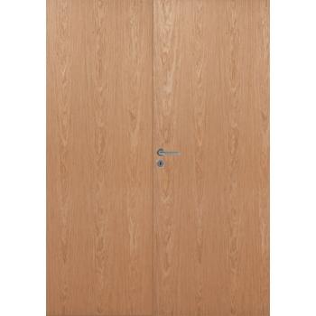 Дверь шпонированная гладкая двупольная