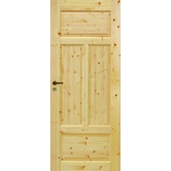 Четырехфиленчатая сосновая дверь глухая однопольная JELD-WEN N50
