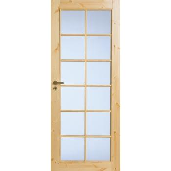 Филенчатая сосновая дверь под 12 стекол