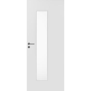 Дверь массивная гладкая Stable 420 с прозрачным стеклом