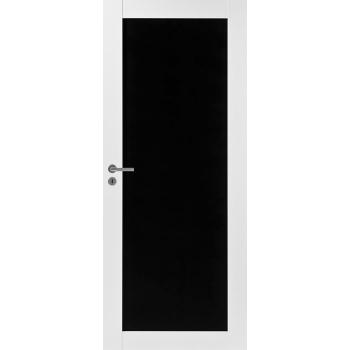 Дверь Trendi 301B с черной филенкой для рисования белая