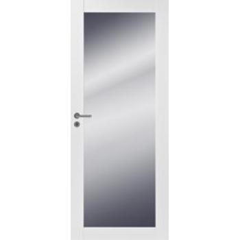 Дверь Trendi 301M белая с одной зеркальной филенкой