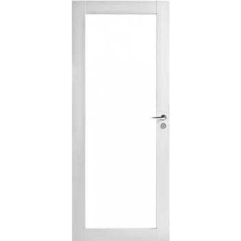 Дверь Trendi 302K с одной филенкой белая с прозрачным стеклом