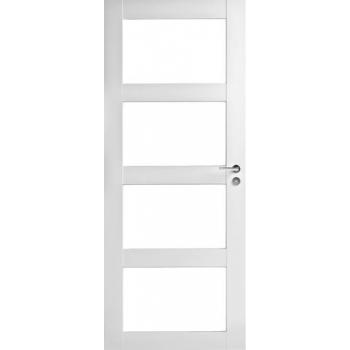Дверь Trendi 308K четырехфиленчатая белая с прозрачными стеклами