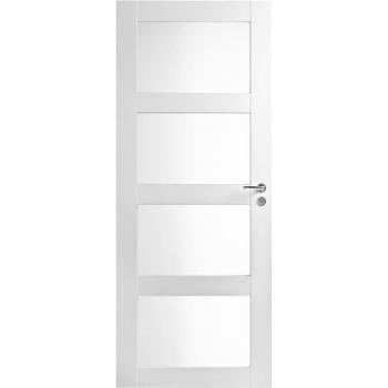 Дверь Trendi 308S четырехфиленчатая белая с матовыми стеклами