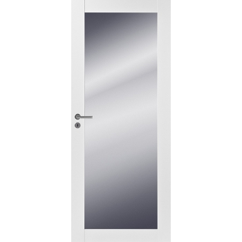 Дверь массивная Unique 501M с зеркалом